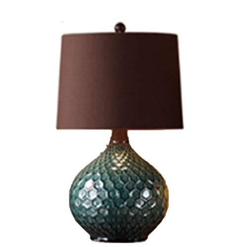Lámpara de mesa americana dormitorio lámpara de noche creativo europeo salón lámpara de mesa de cerámica estudio simple ojo moderno lámpara LED Met Love