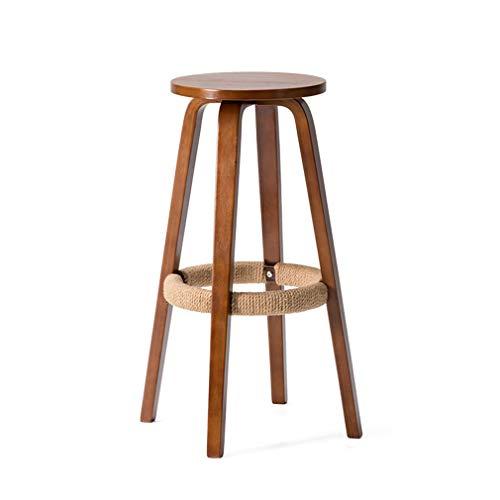 Hohe Rückenlehne Aus Bugholz Stuhl (SACKDERTY-Stühle Hohe Hocker Holz Barhocker Pub Zähler Höhe Barhocker mit Beinen Fußstütze Home Küche Möbel Hocker Esszimmerstuhl (Höhe: 68,5 cm))