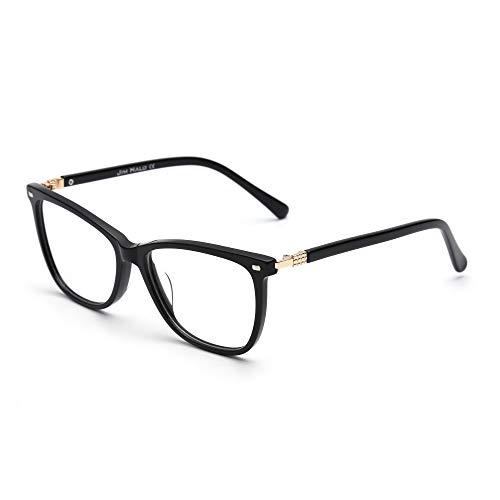 JIM HALO Platz Nicht Verschreibung Brillen Klar Linsen Gläser Damen Herren Schwarz
