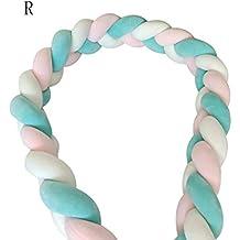 STRIR Parachoques Braided de Cuna para Bebé Cojín Trenzas Parachoques de Serpiente para Protector Abordes de