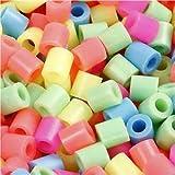 Bügelperlen, Größe 5x5 mm, Lochgröße 2,5 mm, pastellfarben, 6000sort.