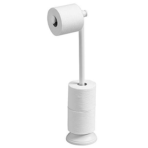 mDesign Toilettenpapierhalter ohne Bohren - Klorollenhalter fürs Badezimmer - Farbe: