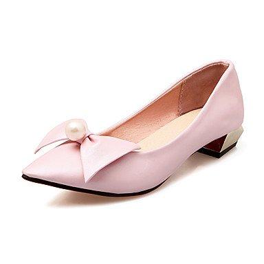 Talloni delle donne Primavera Estate altro vestito similpelle tacco basso Altri Nero Rosa Beige Pink