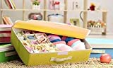 Everyday Desire 15+1 Compartment Cell Foldable Storage Box type Non-Smell Drawer Organizer for underwear Closet Storage (Yellow)
