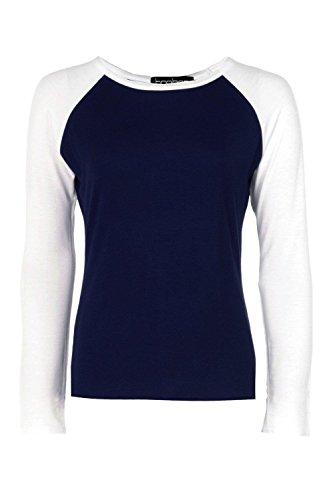 Marine Femmes Arabella Basic Long Sleeve Raglan Top Marine