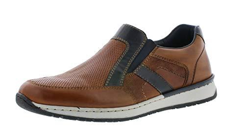 3 Tie Lace Up Schuh (Rieker B5160 Herren Bequemschuh,Komfort-Halbschuh,bequem,leicht,flexibel,Komfortweite,Sommer,nut/ozean/25,45 EU / 10.5 UK)