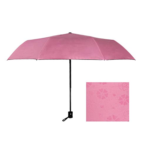 rer Regenschirm,Regendicht Faltbarer,Regendichter Sonnenschirm Mit Uv-Schutz Umgedrehte Farbe Vollautomatische Sonnencreme Aus Schwarzem Kunststoff (Pk) ()