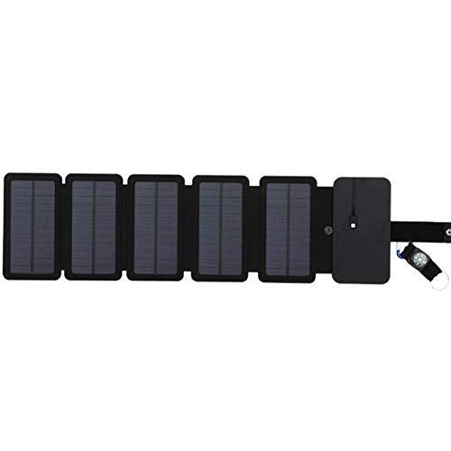 SJZC Solar-Ladegerät für den Außenbereich Wireless-Ladegerät 7,5 W Folding Pack Dual USB Portable Power Bank Geeignet für die meisten Mobiltelefone - Portable Solar Power Packs