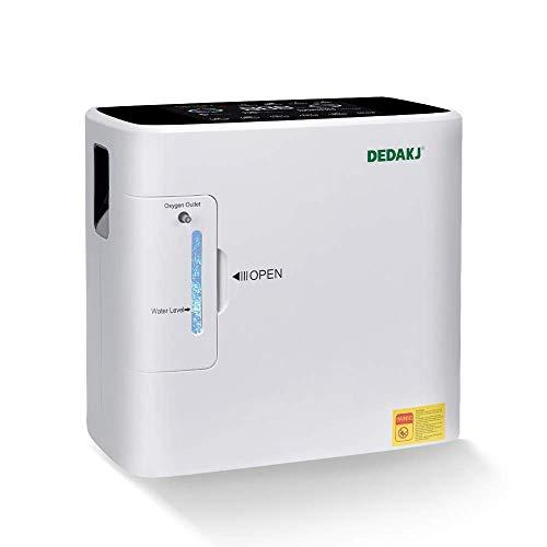 TOPQSC Tragbarer Sauerstoffkonzentratorgenerator 1-6L / min 30-90% (± 3%) Sauerstoffgerät Startseite 90% hoher Reinheitsgrad für die Verwendung im Reiseauto (220 V)