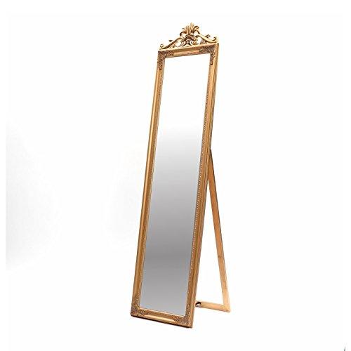 Miroir sur pied ornementé \