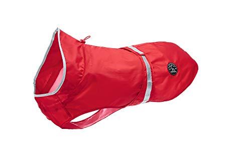HUNTER UPPSALA RAIN Hunde-Regenmantel, wasserabweisend, reflektierende Streifen, leicht, 40, rot