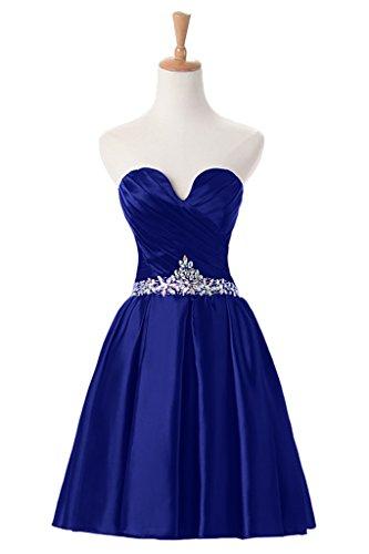 Promgirl House - Robe - Trapèze - Femme Bleu royal