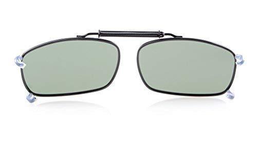 Eyekepper 58x38 MM Clip auf Sonnenbrillen mit Frühlings-Zugdeichsel Polarisiert G15 Linse
