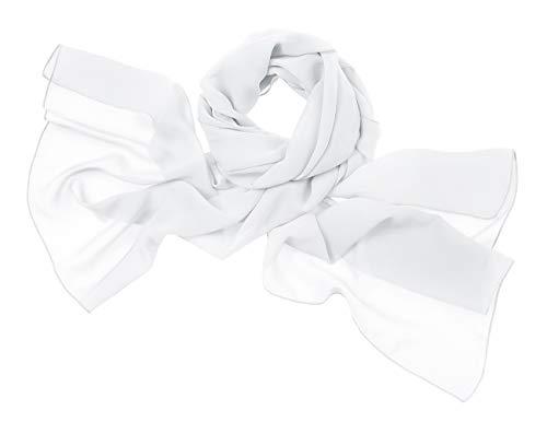bridesmay Chiffon Stola Schal Scarves für Kleider in Verschiedenen Farben Ivory M