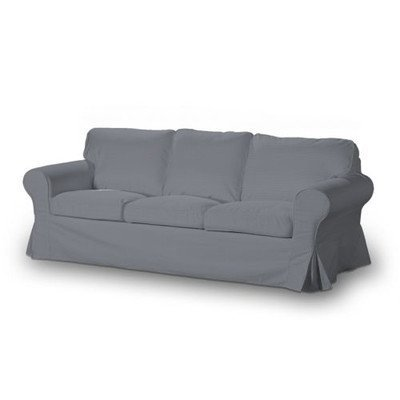 FRANC-TEXTIL 795-702-07 Ektorp 3-Plazas Sofá cama funda nuevo modelo 2013, Cotton Panama, plegable, Slade Grey