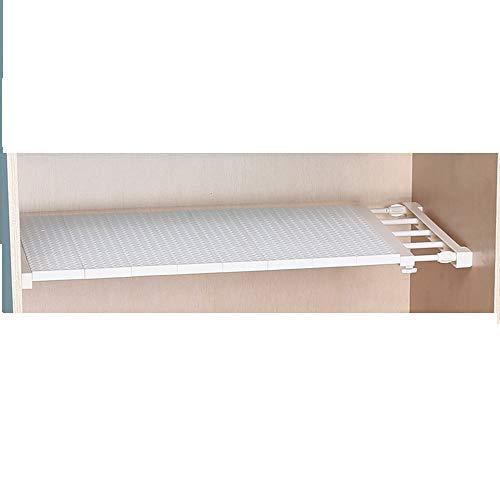 Uctop store - scaffale multifunzione, retrattile, per armadio, cucina, bagno, libreria; mensola estensibile, regolabile, per scarpe; colore casuale