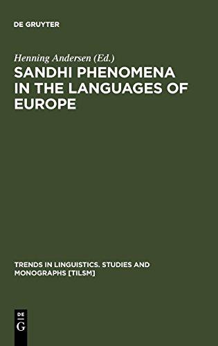 Sandhi Phenomena in the Languages of Europe (Trends in Linguistics. Studies and Monographs [TiLSM])