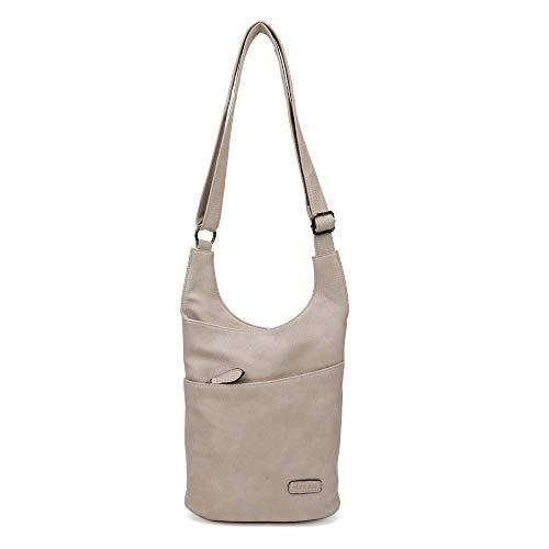 CASAdiNOVA ® Damen Umhängetasche Braun - Schultertasche - Damenhandtasche - Handtasche - Crossbody - Messenger Bag - Shopper Tasche - premium Tote
