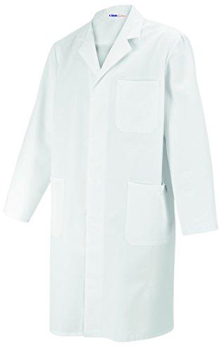 07 Laborkittel weiß Unisex für Damen und Herren, Reverkragen, 100% Baumwolle, Größe XL (Medizinischen Labor-mäntel Für Männer)