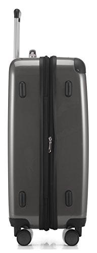HAUPTSTADTKOFFER - Alex - NEU 4 Doppel-Rollen Hartschalen-Koffer Koffer Trolley Rollkoffer Reisekoffer, TSA, 65 cm, 74 Liter, Titan - 3