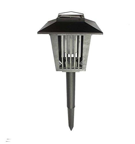 Preisvergleich Produktbild Solarbetriebene Outdoor Licht regen Beweis Moskito Control / Bug Zapper Licht - Insektenvernichter & Garten Licht kombiniert (nur Nacht Nutzung)