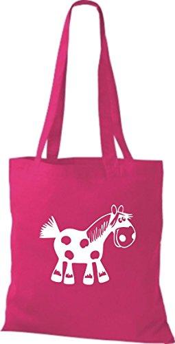 Shirtstown Stoffbeutel Tiere Pferd Pony pink