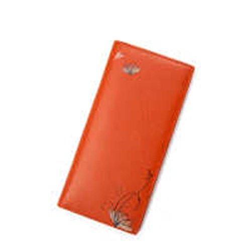 WU Zhi Lady In Pelle Fermasoldi Portafogli Orange
