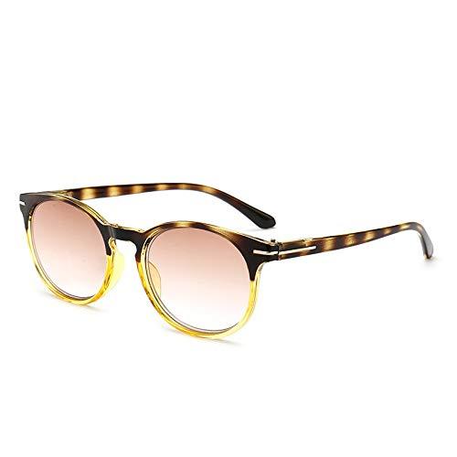 TYJYY Sonnenbrillen Neue Doppelt-Braune Lesebrille Ultraleichte Presbyopie-Brillenbrille Frauen...