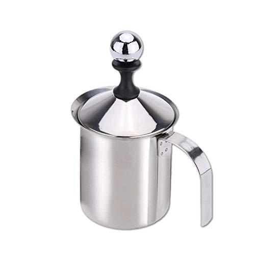 Anself 400ml in acciaio inox Milk Frother Doppia maglia del latte Foamer fai da te fantasia bianco Coffe Creamer per Cappuccino Latte