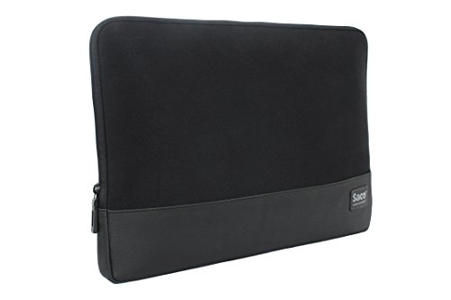 Saco laptop sleeve slim sleek checkpoint friendly Zipper Water-resistant shock proof protective case for men and women notebook bag non neoprene EVA for Apple MacBook Pro MF841HN/A 13-inch Laptop- Black  available at amazon for Rs.499