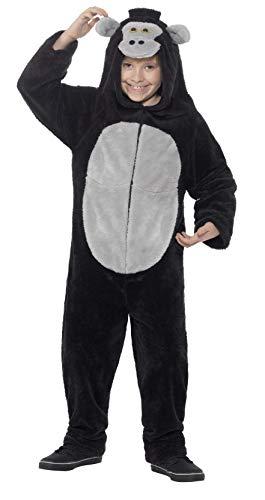 Smiffys Kinder Unisex Gorilla Kostüm, All-in-One mit Kapuze, Größe: M, 45283