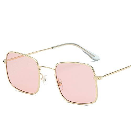 Shengxinyi Retro Sunglasses Ocean Lenses Durable Square Metal Frames HD Lenses with Case for Men and Women C6 -