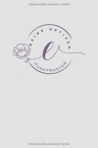 Notizbuch Buchstabe E - punktraster: personalisiertes Geschenk / Mitbringsel Geburtstag Weihnachten Ostern Jahrestag Jubiläum kleine Aufmerksamkeit | ... cremefarbenes Papier | Cover matt | Softcover