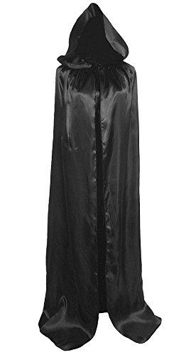 Erwachsene Sensenmann Damen Kostüme Lady (Ourlove Fashion, langer Unisex-Umhang mit Kapuze, Hexenmantel; Halloween, Cosplay, Party; Einheitsgröße 150 cm,)