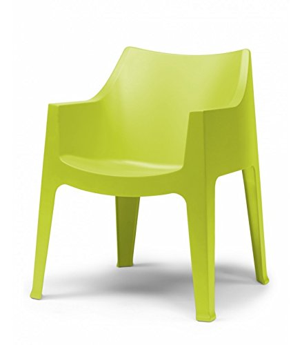 SCAB DESIGN s.p.a. SET 2 SEDIE COCCOLONA in TECNOPOLIMERO MADE IN ITALY COLORATE - Verde pistacchio