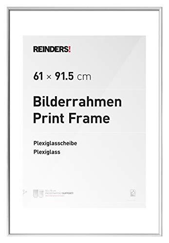 REINDERS Bilderrahmen für Maxi-Poster 61x91,5cm Kunstoff Weiß (Große Kunststoff-bilderrahmen)