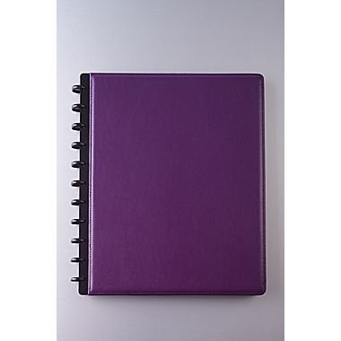 m-by-staples-arc-customizable-leather-notebook-system-purple-9-1-2-x-11-1-2-by-staples