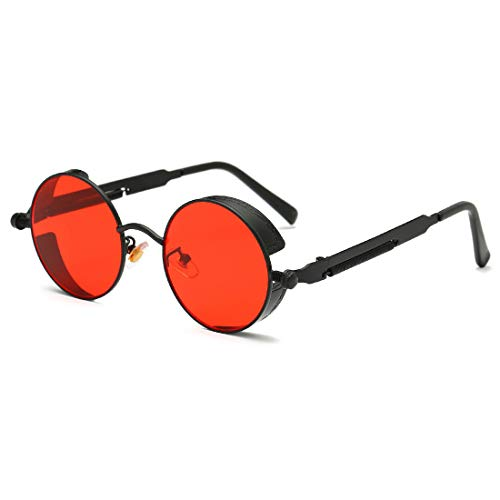 b49a5de5bcbbfa Youtato HD Sunglasses Polarized Vintage Steampunk Retro Metal Frame Sun  Glasses for Men Women UV400 Protection