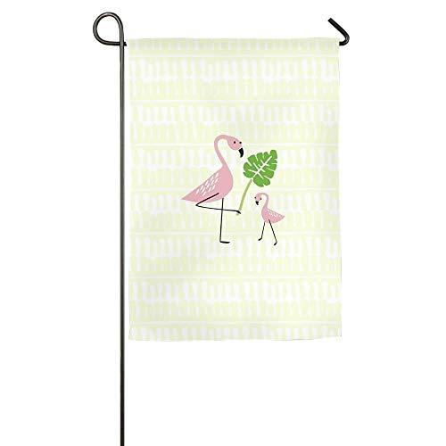 HujuTM Mom and Son Flamingos Home Garden Indoor/Outdoor Flags 18\