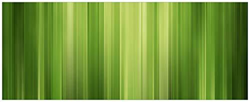 Wallario Glasbild Grün und schwarz gestreift - Abstraktes Streifenmuster - 50 x 125 cm in Premium-Qualität: Brillante Farben, freischwebende Optik -