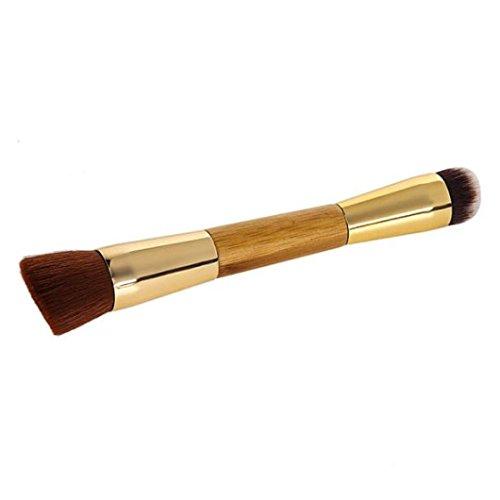 Tonsee 1pc haute qualité bambou contournage double brosse poudre représentent pinceaux cheveux synthétiques