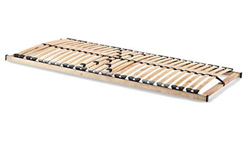 Home Collection24 GmbH HomeBett 7-Zonen Lattenrost 80x200 cm NV, Geeignet für alle Matratzen, Komfort Lattenrost mit 28 hochelastische Federholzleisten
