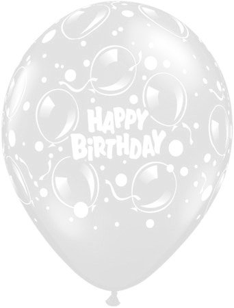 (DeCoArt... SET PREIS 10 Luftballons Birthday farbig mix ca 13 cm NICHT ballongas geeignet und 10 Ballonstäbe weiß)