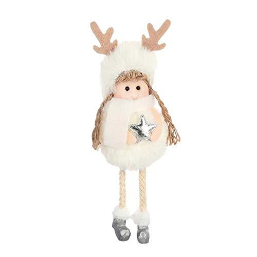 Kostüm Schnee Engel - WOBANG Weihnachten Deko - Christmas Weihnachtsbaum Weihnachten Dekoration Kreativer Plüsch Engel Charm Kind süße Puppe Puppe Geschenk Weihnachtsbaum Anhänger
