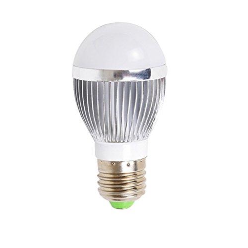 ANDEa Led Birne, E27 Spiral Mund 3-9W Energiesparende Glühbirnen Patch Lampe Perlen Super Bright Silber Warm Licht Weiß Licht (Drei Geschenk zwei) ( Farbe : Warmes Licht-7W ) (Energiesparende Spiral)