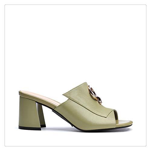 happy&live Women Sandals Leather Genuine Fashion Sandals Women high Heels Comfortable Ankle wrap Summer Shoes Ladies Open Toe S5 Black 8.5 Jessica Simpson Wrap