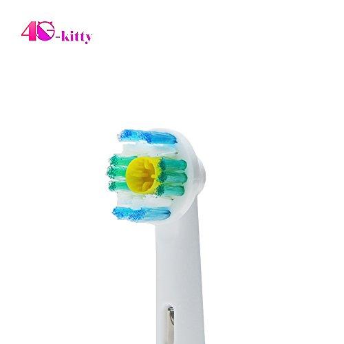 12x Stück ERSATZ Aufsteckbürsten 3D WHITE kompatibel mit Oral–Aufsteckbürsten, kompatible Aufsteckbürsten Ersatzbürsten Ersatz-Zahnbürstenköpfe für Braun Oral B/3D/weiß