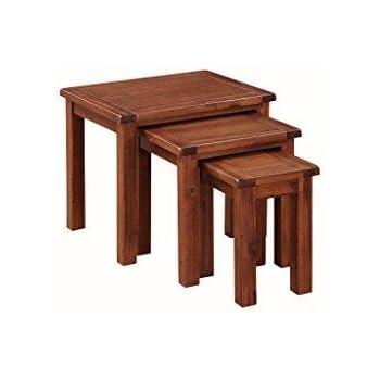 Pendleton Acacia Nest Of Tables Set Of 3   Set Of 3 Nesting Tables   Finish Part 74