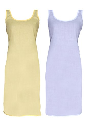 Ada Womens Cotton Suit Slip & Camisole Combo Set of 2 (A307525_Mustard)