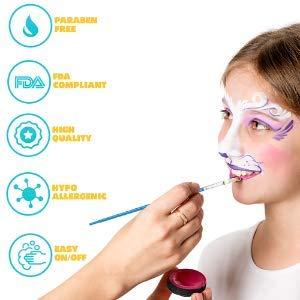 Blue Squid Kinderschminke Set Große 12, 30+3 Schablonen für Gesichtsbemalung, 120ml Körperfarben in Profiqualität…